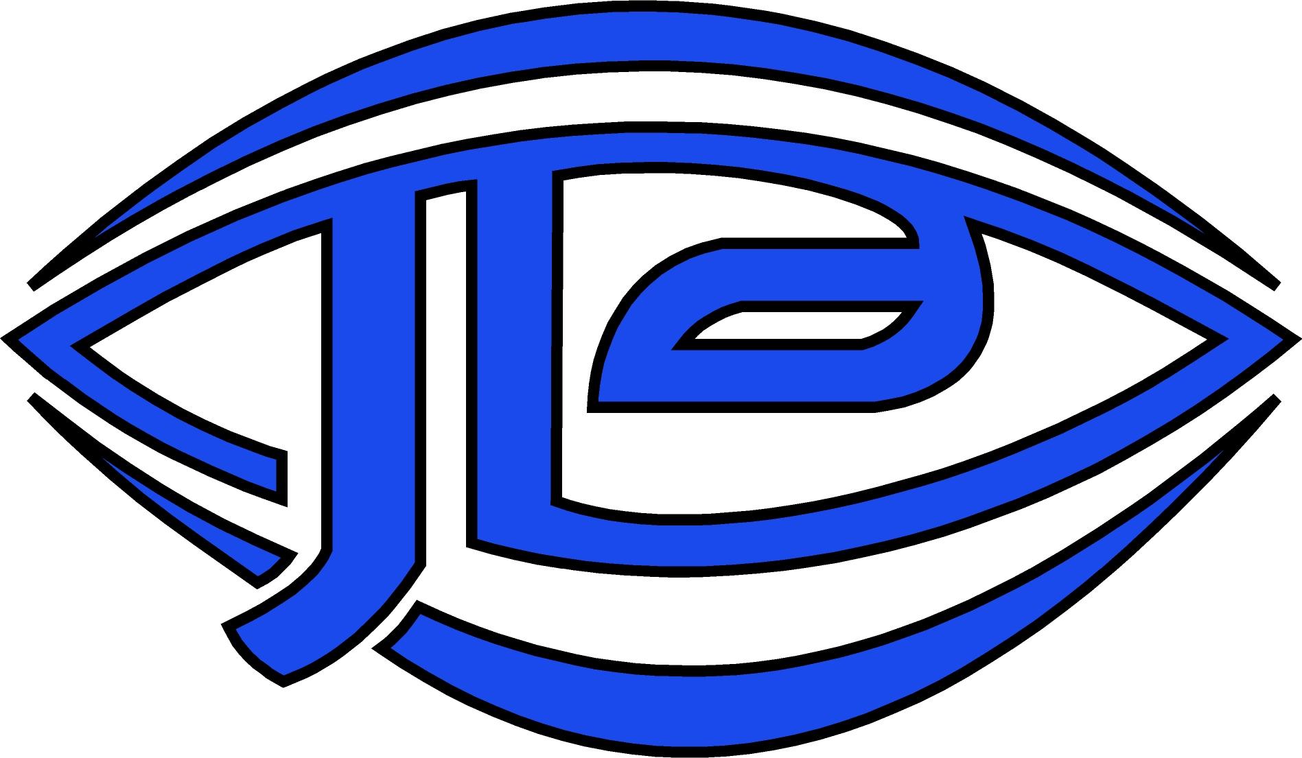 League Embroidered JLA Symbol Royal Blue Polo Shirt
