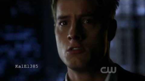 Smallville - Ollie looking in the 'mirror and seeing Lex. Clip HD