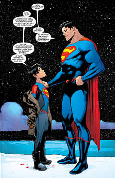 Superman superboy-Clark and Jon