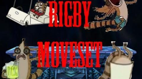 Super Cartoon Bros Brawl Moveset - Rigby