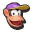 Icône Diddy Kong violet U