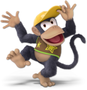 Art Diddy Kong jaune foncé Ultimate