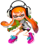 Art Inkling fille Splatoon