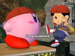 Félicitations Kirby Melee Aventure