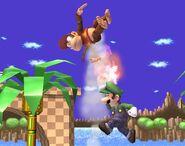 Luigi attaques Brawl 3