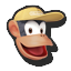 Icône Diddy Kong beige U
