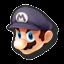 Icône Mario noir U