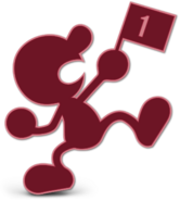 Art Mr. Game & Watch rouge Ultimate