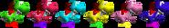 Couleurs Yoshi 64
