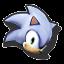 Icône Sonic blanc U