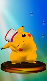 Trophée Pikachu SSBM Bleu