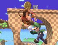 Luigi attaques Brawl 1
