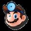 Icône Dr. Mario bleu U