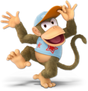 Art Diddy Kong blanc Ultimate