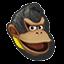 Icône Donkey Kong noir U