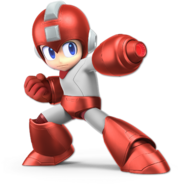 Art Mega Man rouge Ultimate