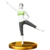 Trophée Entraîneuse Wii Fit U WiiU