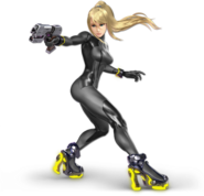 Art Samus sans armure noir Ultimate