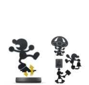 Amiibo Mr Game & Watch poses