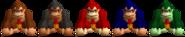 Couleurs Donkey Kong 64