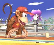 Diddy Kong attaques Brawl 3