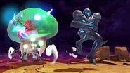 Chrom & Dark Samus in Super Smash Bros
