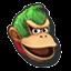 Icône Donkey Kong vert U