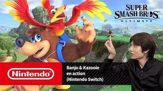 Super Smash Bros. Ultimate - Banjo & Kazooie en action (Nintendo Switch)