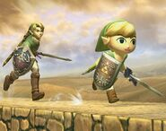 Link Cartoon attaques Brawl 1