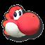 Icône Yoshi rouge U