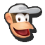 Icône Diddy Kong blanc U