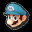 Icône Mario bleu U