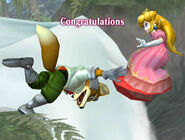 Félicitations Peach Melee Classique
