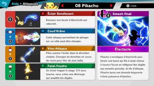 Attaques Ultimate Pikachu