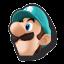 Icône Luigi bleu U