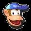 Icône Diddy Kong bleu U