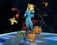 Samus sans armure Smash final Brawl 5