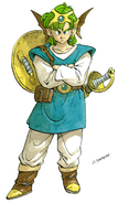 DQIV Hero Famicom Art