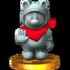 Trophée Mario statue SSB4 3DS