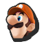 Icône Luigi orange U