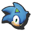 Icône Sonic vert U