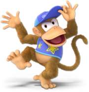 Art Diddy Kong bleu Ultimate