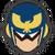 Icône Captain Falcon bleu foncé Ultimate