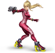 Art Samus sans armure rouge Ultimate