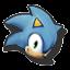Icône Sonic jaune U
