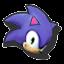 Icône Sonic violet U
