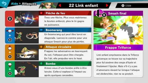Attaques Ultimate Link Enfant