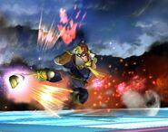 Captain Falcon attaques Brawl 6