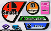 SSB 3DS Menu principal