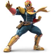 Art Captain Falcon bleu foncé Ultimate